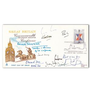 1986 Commonwealth Parliamentry Conference - Signed by Jeremy Thorpe and 9 Others