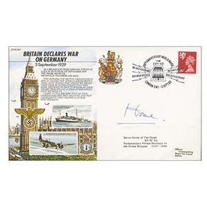 1989 Britain Declares War on Germany - Signed by Baron Home