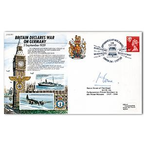 1989 Declaration of War Anniversary - Signed by Lord Home