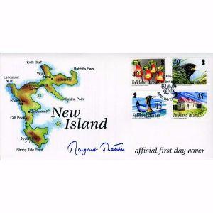 2003 Falklands 'New Island'. Signed Margaret Thatcher.