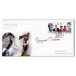 2003 Falklands Prince William's 21st - Signed by Margaret Thatcher