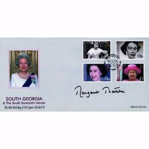2006 South Georgia Queen's 80th. Signed Margaret Thatcher.