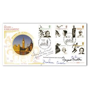 1996 Women of Achievement - Signed by Thatcher, Boothroyd, Williams and Castle