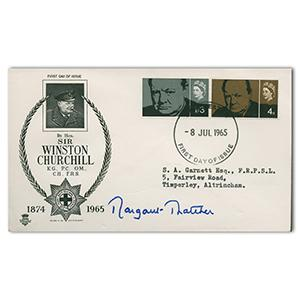 1965 Churchill cover. Signed Margaret Thatcher,