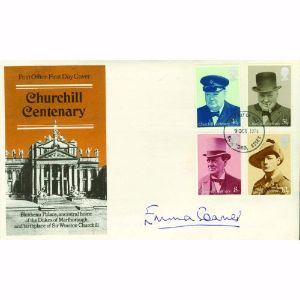 1974 Churchill. Signed Emma Soames.