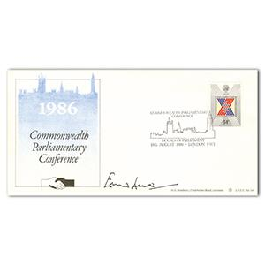1986 Commonwealth Party - Signed by Edward Heath