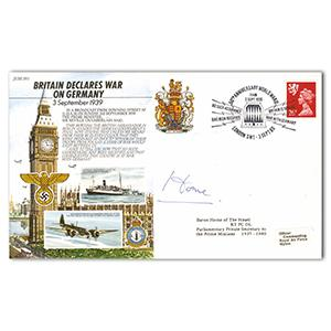 1989 50th Anniversary WWII - Signed by Lord Home