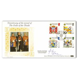 1987 Order of the Thistle - Signed by Lord Home