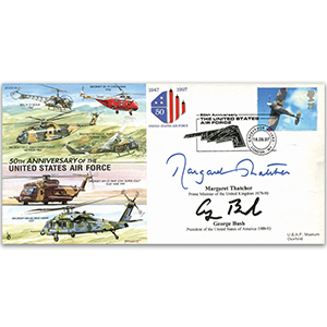 1997 50th Anniversary of the US Air Force - Signed by Thatcher and Bush