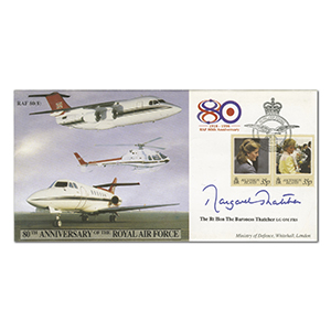 1998 RAF 80th Anniversary - Signed by Margaret Thatcher