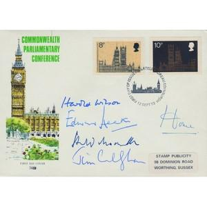1973 Parliament - Signed by Former Prime Ministers Wilson, Heath, Home, Callaghan, Macmillan