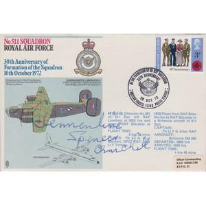 1972 RAF - Signed by Lady Clementine Churchill