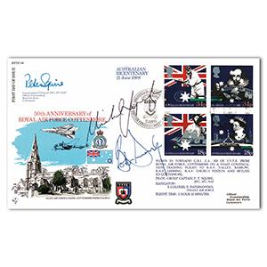 1988 RAF Cottesmore Anniversary - Signed by Bob Dwyer and Michael Lynagh
