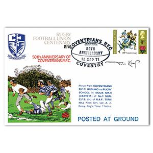 1971 RFU Centenary - Signed by Tom Kemp