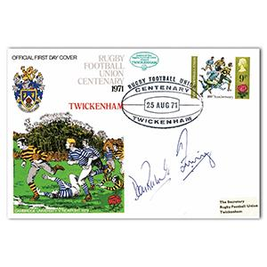 1971 RFU Centenary - Signed by Dean Richards and Zinzan Brooke