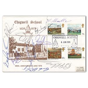 1979 Chigwell School 350th Anniversary - Signed by Pat Eddery & 9 Others