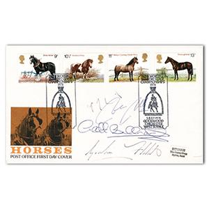1978 Horses Post Office Cover - Signed by 4