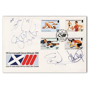 1986 Commonwealth Games - Signed Regis, Jarrett, Boardman & Smith