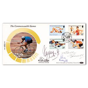 1986 Commonwealth Games - Signed by Edwards, Gunnell and Radcliffe