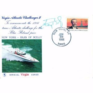 1986 Virgin Atlantic Challenger I.I. Signed Chay Blythe.
