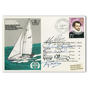 1973 Whitbread Round the World Yacht Race - Signed Rose, Vallings, Mullener, Bryans & Skene