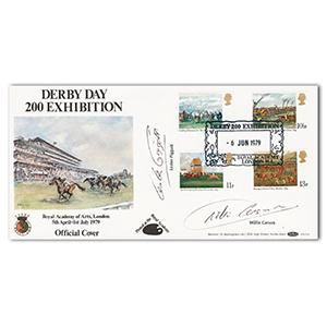 1979 Horseracing B.O.C.S.11. Royal Academy handstamp. Signed Piggott and Carson.