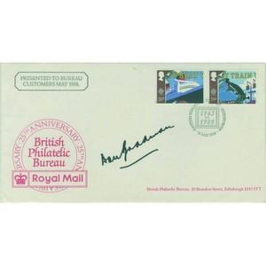 1988 British Philatelic Bureau 25th. Signed Donald Bradman.