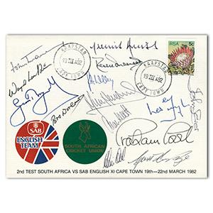 1982 Test - Signed by Woolmer, Underwood, Boycott, Amiss & 10 Others