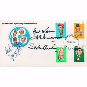 1981 Australia Sporting Personalities - Signed by Trueman & Best
