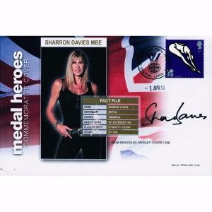 2010 Sharron Davies cover. Signed Sharron Davies MBE.