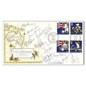 1989 Aus Bicentenary - Ashes Team - 17 Signatures Including Healy, Taylor, Jones & Lawson