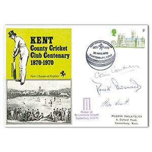 1970 Kent Cricket Club - Signed Cowdrey, Underwood & Knott