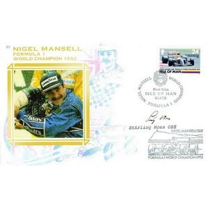 1992 Nigel Mansell Cover - Signed by Stirling Moss OBE