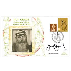 1995 W.G. Grace 100th - Signed by Geoffrey Boycott