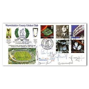 1996 Warwickshire CCC - Multi-Signed Cover