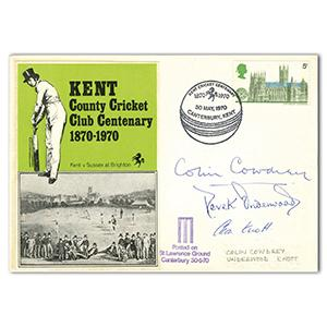 1970 Cricket Kent CCC - Signed by Cowdrey, Underwood & Knott