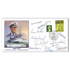 1989 Mountbatten - Cricket Signed Botham, Gooch, Border, Hutton & 7 Others