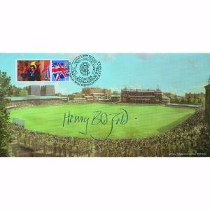 2008 Lord's Cricket Ground. Signed Henry Blofeld. N Power Test handstamp.