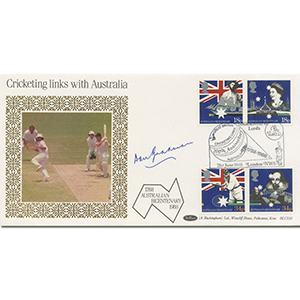 1988 Australia Bicentenary - Signed by Donald Bradman