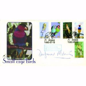 1993 Small Cage Birds. Signed Dr Desmond Morris.
