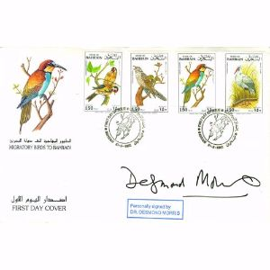 1992 Migratory Birds of Bahrain. Signed Dr Desmond Morris.