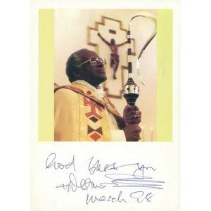 1998 Amazing Anti-Apartheid Cleric - Signed by Archbishop Desmond TuTu