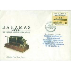 Bahamas Marconi signed by Millvina Dean