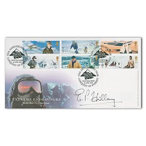 2003 Extreme Endeavours. Signed by Edmund Hillary.