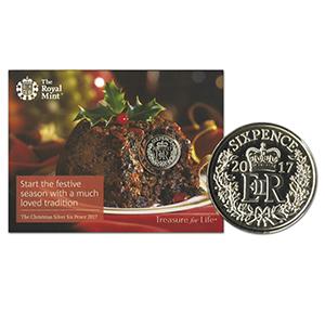 2017 Christmas Silver Sixpence
