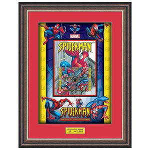 Spider-Man Stamp Card Framed - Limited Edition of 2,000