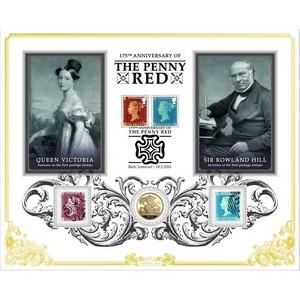 2016 Penny Red & Two Pence Blue Sovereign Cover