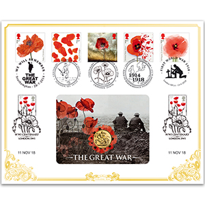 2018 The Great War Poppy Sovereign Cover