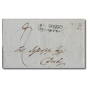1839 4th December Letter sent from Worcester to Derby