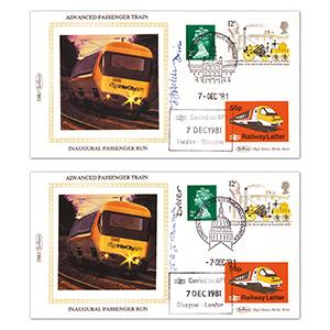1981 Inuagural Run London-Glasgow-London pair Driver signed